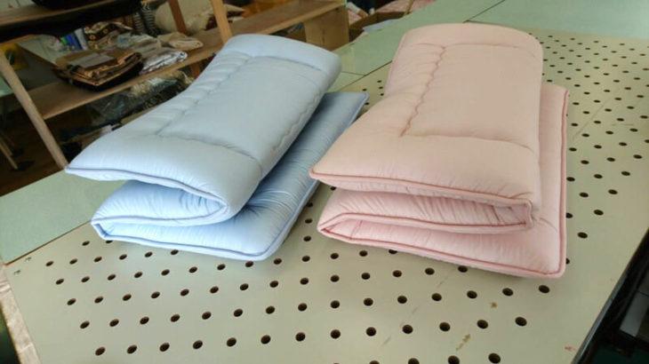 敷布団 90×150cm ブルー、ピンク