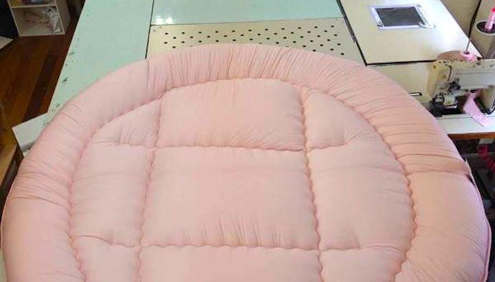 敷布団 190×190cm ピンク